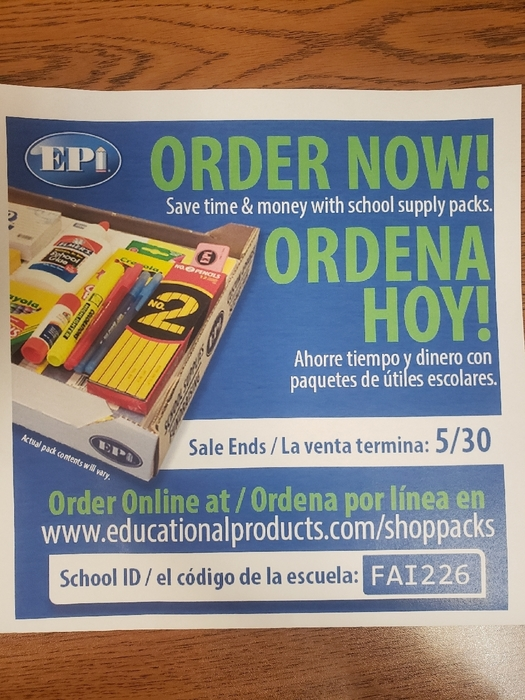 Order your school supplies now!