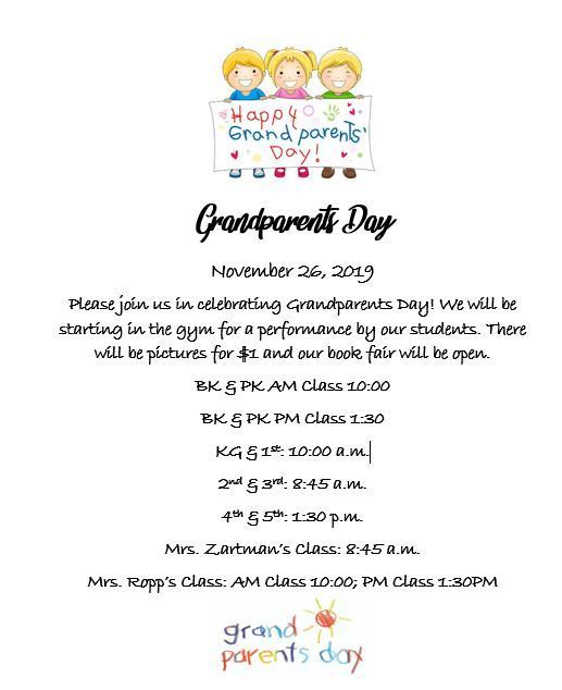 Schedule for Grandparents Day
