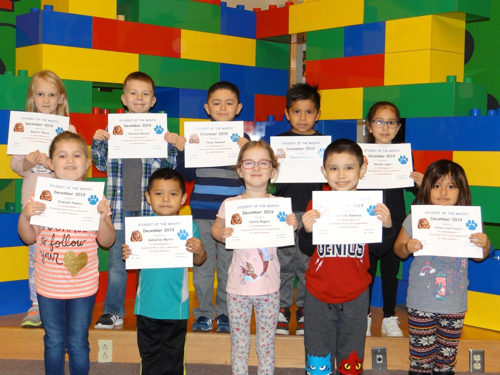 K & 1 December Students of the Month