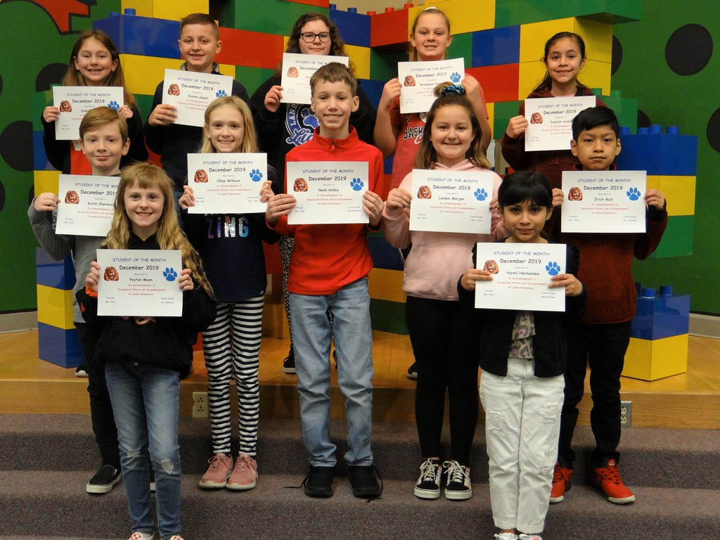 4th & 5th Grade December Students of the Month