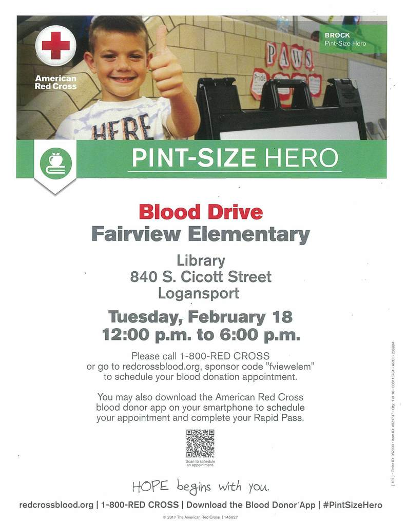 Red Cross Blood Drive on 02/18/2020