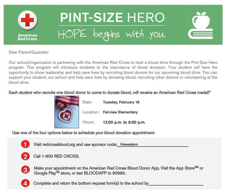 Red Cross Blood Drive Flyers