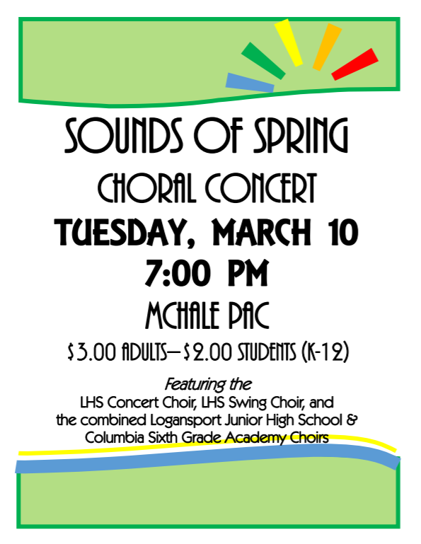 Sounds of Spring Concert Choir Flyer