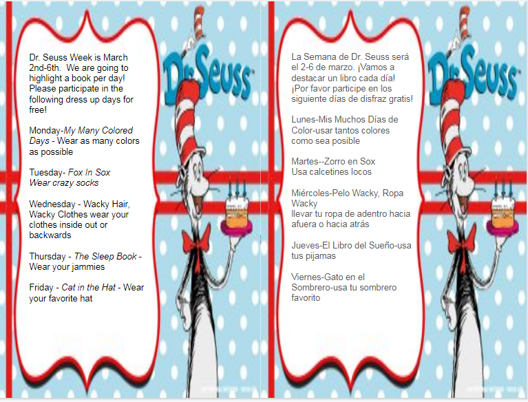 Dr. Seuss Dress Down Days