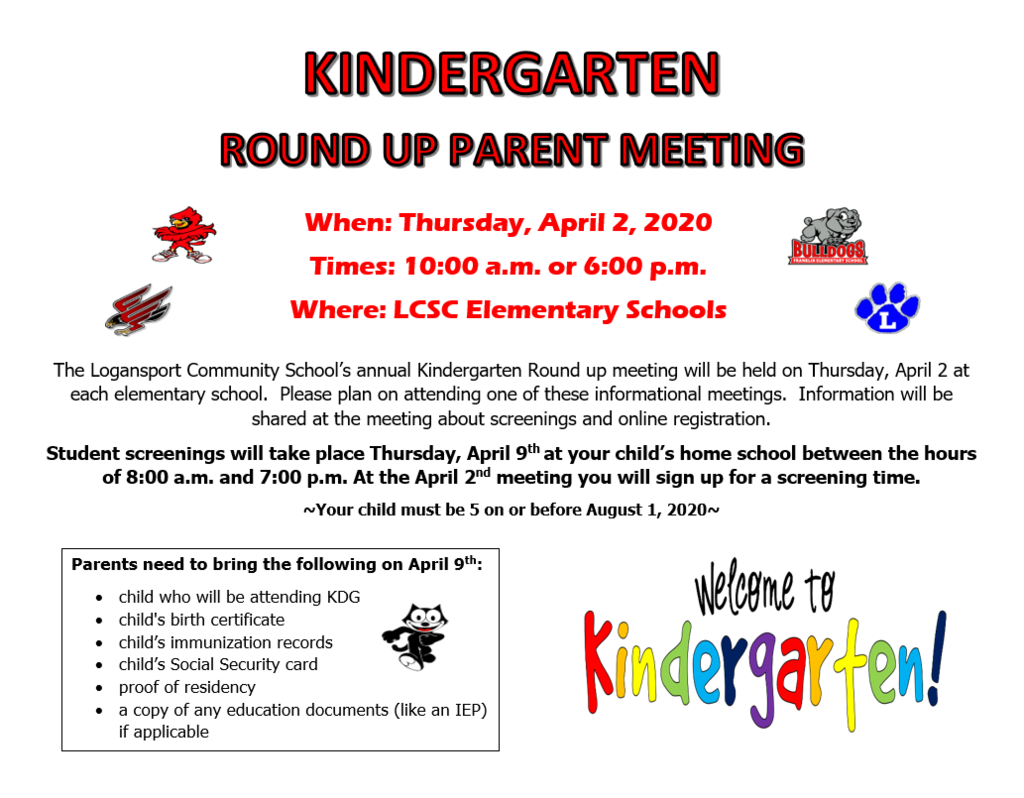 Kindergarten Roundup English Flyer